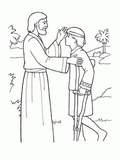 Download Or Print This Amazing Coloring Page Jesus Heals A Lame Boy Jpg