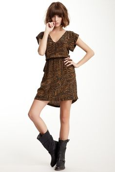 These boots! Cute dress, but it's really all about the boots.  I am on a mission to find them now...
