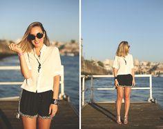 Zara Shirt, Zara Shorts, Zara Sandals, Swarovski Bracelet, Zero Uv Sunnies, Mc Kenzie Necklace