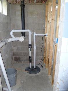 Plumbing Basics Re Ejector Pumps Home Pinterest Basement - Basement bathroom plumbing with ejector pump
