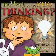 """""""Do your children know the POWER of their THOUGHTS? This fully illustrated book published by ThoughtsAlive Books introduces children to the Law of Attraction. Fun characters and humorous situations show the power of the mind, and the importance of wisely selecting our dominant thoughts.FUN for ALL ages,""""What are You Thinking"""" will inspire creativity, confidence, goal setting, gratitude, and HOW toturn a bad day around!"""""""