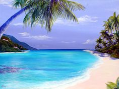 St. Croix, I can feel the hot sand under my feet