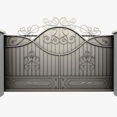 5 Successful Clever Ideas: Wooden Fence To Steel Post End Adapter Modern Residential Fence Design.Backyard Fence Uk Modern Fence In Nigeria. Steel Gate Design, House Gate Design, Fence Design, Metal Gates, Wrought Iron Gates, Simple Gate Designs, Iron Main Gate Design, Japanese Fence, House Slide