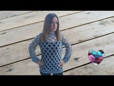Tutorial part 2 Spring sweater one size for you with my frends diy Lidia Crochet Tricot, Beau Crochet, Knit Crochet, Unique Crochet, Beautiful Crochet, Crochet Videos, Crochet Clothes, Pulls, Crochet Patterns