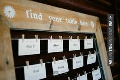 So awesome! - wedding escort card display | CHECK OUT MORE GREAT REHEARSAL DINNER PICS AND IDEAS AT WEDDINGPINS.NET | #weddings #wedding #rehearsal #rehearsaldinner #bachelorparty #events #forweddings
