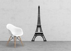 Large Eiffel Tower vinyl decal - large wall decor - nursery decor - wall decal - Home Decor - Paris Decor Wall Decals, Vinyl Decals, Paris Bridal Shower, Paris Decor, Nursery Wall Decor, Tower, Windows, Chair, Etsy
