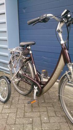 Ion GLS, niet de lichtste fiets, maar dat maakt fijn stabiel in combinatie met zijwielen, een nadeel wordt zo een voordeel