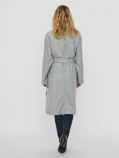Fortune long wrap coat | GREY Coats For Women, Jackets For Women, Little Neck, Wrap Coat, Long Ties, Models, Long Jackets, Winter Accessories, Outerwear Women