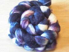 SW BFL Wool and Silk Roving  Hand Dyed by SussesSpindehjrne, $23.00