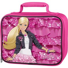 Barbie School Supplies Barbie Lunch Bag School Supplies Bundle ~ Large Insulated Barbie Lunch Box with Mini Coloring Book