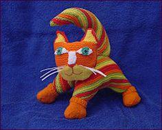 Martha's kat - lijf is gemaakt van een simpel vierkant lapje