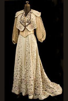 ~Embroidered bolero and skirt ensemble, c.1900~