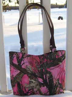 True+Timber+Pink+Camo+Handbag+Tote+by+stacey9014+on+Etsy,+$29.95