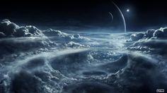 4K Space and Clouds Wallpaper