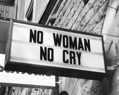 modefunker:No woman - no cry.