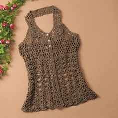 Fabulous Crochet a Little Black Crochet Dress Ideas. Georgeous Crochet a Little Black Crochet Dress Ideas. Black Crochet Dress, Crochet Crop Top, Crochet Blouse, Knit Or Crochet, Crochet Hats, Dressy Tops, Crochet Designs, Crochet Patterns, Modern Crochet