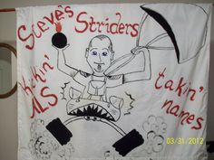 My ALS walk team banner.