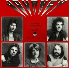 """Steve Perry Journey Radio promo, featuring interviews and songs from """"Frontiers"""" 1983 Best Rock Bands, Cool Bands, Steven Ray, Journey Band, Neal Schon, Randy Jackson, Journey Steve Perry, Big Songs, Steve Smith"""