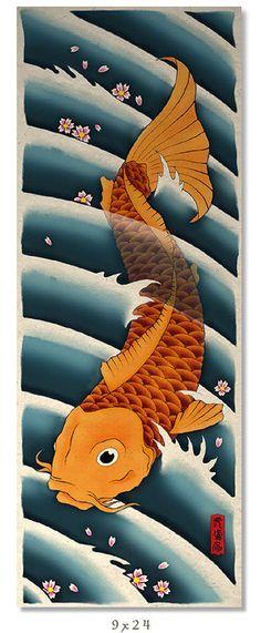 Asian Japanese Koi Art Print Wall Poster | eBay