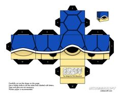 Turtle blue Mario - cubeecraft / papercraft by MarcoKobashigawa on DeviantArt