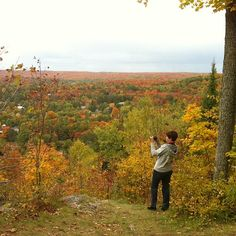 One of the many people enjoying the beautiful Autumn colour in #Haliburton #Ontario #Canada