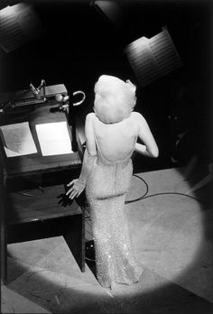 Marilyn Monroe singing 'Happy Birthday, Mr. President', 1962. Photo: Bill Ray.