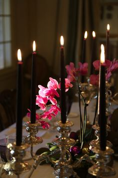deep aubergine candles...