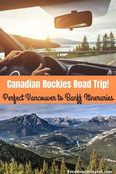 The spectacular Vancouver to Banff drive is a traveler's dream come true! Use this easy step-by-step guide to choose your best Canadian Rockies itinerary! Vancouver Travel, Vancouver British Columbia, Canadian Travel, Canadian Rockies, Banff National Park, National Parks, Great Vacations, Summer Vacations, Canada Destinations