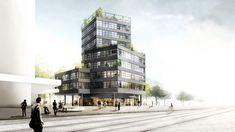 HHF Architects + Westpol Win Switzerland Apartment Tower Competiton,Courtesy of HHF Architects