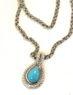 Faux Turquoise Rope Pendant Necklace by Avon. $25.00, via Etsy.