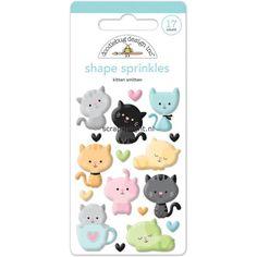 Doodlebug Sprinkles Glossy Enamel Shapes: Kitten Smitten Shapes