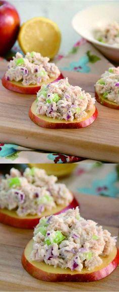 apple, healthy, recipes, seafood, tuna, yogurt
