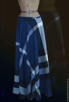 """Купить Юбка теплая зимняя длинная клеш """"Шотландка"""" - юбка в пол, юбка теплая"""