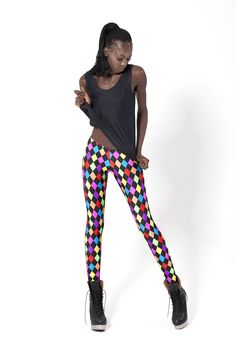 Rainbow Jester Leggings - LIMITED
