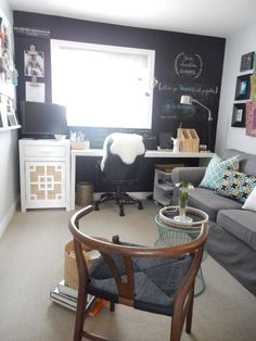 Form and Function - Home Office and Guest Room Reveal Great decorative organizing tips too! http://justdecorate.wordpress.com