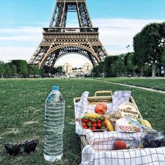 All of Champ de Mars to ourselves for a little breakfast picnic earlier this morning  @major_zhang