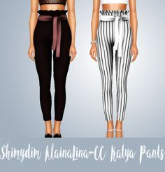 "shimydimsimss: ""[TS3] - ALAINALINA-CC KATYA PANTS S4-S3• Recolorable (The pants & the ""belt"") • Base Game Compatible • HQ compatible (pictures taken without HQ mod) • Sims3Pack & Package • All morph (including pregnancy), Teen To Elder • Mesh and... #pregnancypants,"