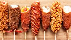 Love Food, A Food, Food And Drink, Korean Street Food, Korean Food, Food Platters, Food Dishes, Korean Hot Dog Recipe, Fried Hot Dogs