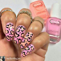 BY #NAILARTBYJEN on InstaG. #leopardprint #vdayhearts #valentinesdaynails #nailartdesigns #vdaynails #nailartdesigns #leopardprintnails #cutenaildesigns #prettynails #prettynailart #nailartideas #diynailart #diynails #nails #nailartpics