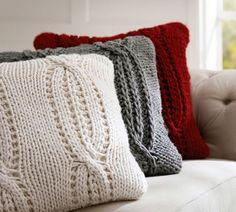 almofada com capa de trico - Pesquisa Google