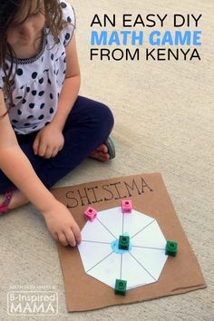 Shisima - An Easy & Cool Math Game for Kids from Kenya - at B-Inspired Mama - PLAY Activities for Kids - Game's Math Classroom, Kindergarten Math, Teaching Math, Math Math, Math Multiplication, Math Teacher, Teaching Tools, Math Games For Kids, Math Activities