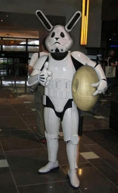 Easter themed Star Wars meets Donnie Darko cosplayer
