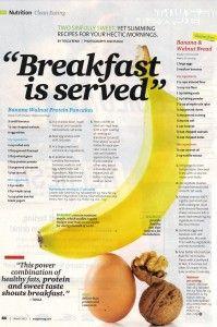 Gluten-free banana and walnut bread by Oxygen Magazine!