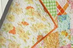 Diary of a Quilter - a quilt blog: Vintage Sheets Baby Quilt