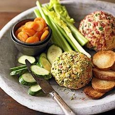 Bacon Cheddar Cheese Balls From Better Homes and Gardens, ideas and improvement projects for your home and garden plus recipes and entertaining ideas.
