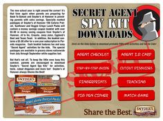 Free printable spy kit. Love the mustaches.