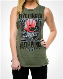 Five Finger Death Punch Junior Fitted Muscle Tank