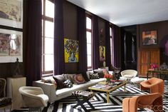 Sig Bergamin Paris Apartment - Colorful Paris Apartment - ELLE DECOR