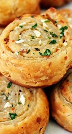 Puff Pastry Garlic Bread Roll-ups