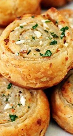 Puff Pastry Garlic Bread Roll-ups